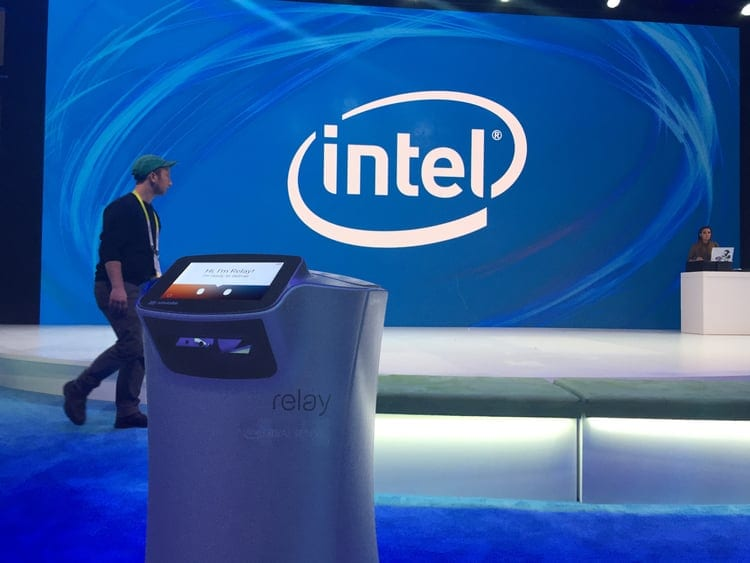 Relay was at the Intel booth at CES, delivering snacks and drinks to attendees.
