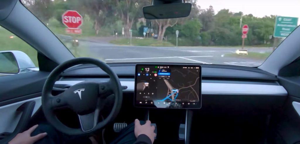 Tesla Self driving visualization